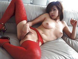 Asian Masturbating Photos