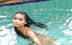 Asian in Pool Photos