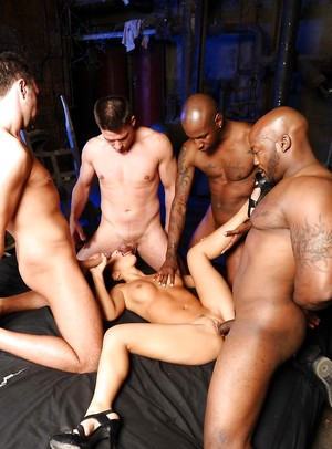 Interracial Gangbang Photos